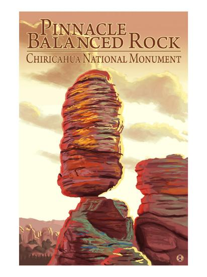 Chiricahua National Monument - Pinnacle Balanced Rock-Lantern Press-Art Print