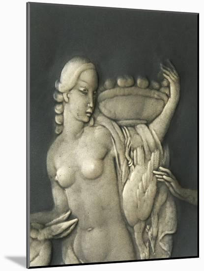 Chiselled Silver Plate Depicting Mythological Scene. Detail: Diana the Hunter-Cornelio Ghiretti-Mounted Premium Giclee Print