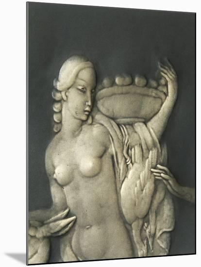 Chiselled Silver Plate Depicting Mythological Scene. Detail: Diana the Hunter-Cornelio Ghiretti-Mounted Giclee Print