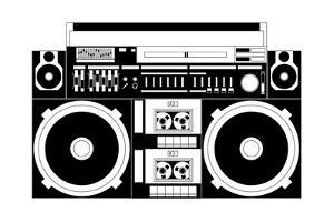 Vector Image of a Classic Boombox by Chisnikov