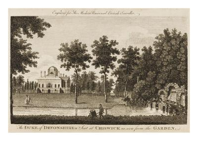 Chiswick House, the Seat of the Duke of Devonshire - View in the Gardens--Giclee Print