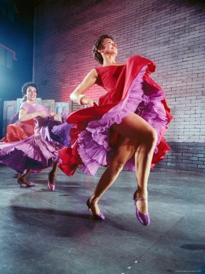 Chita Rivera and Liane Plane Dancing in a Scene from the Broadway Production of West Side Story-Hank Walker-Premium Photographic Print