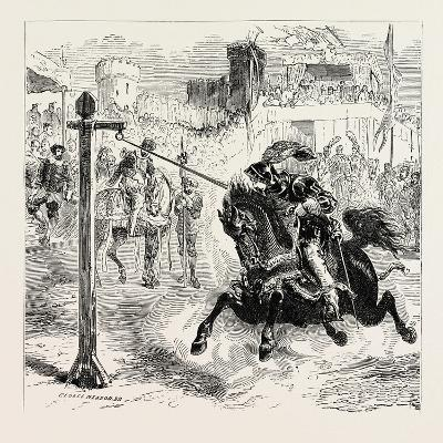 Chivalric Games Tilting at the Ring--Giclee Print