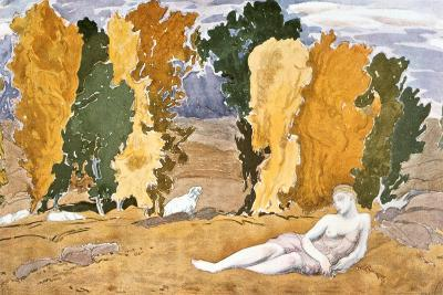 Chloe Abandoned, Design for a Ballet Russes Production of Ravel's Daphnis and Chloe, 1910-1911-Leon Bakst-Giclee Print