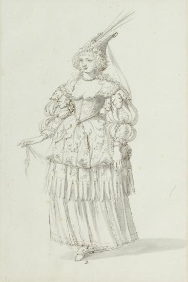 Chloris: Alternative Sketch for Henrietta Maria, C.1631-Inigo Jones-Giclee Print