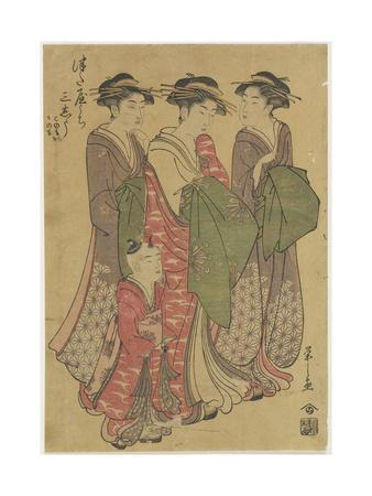 Three Courtesans of the Tsuataya House, 1787-1798