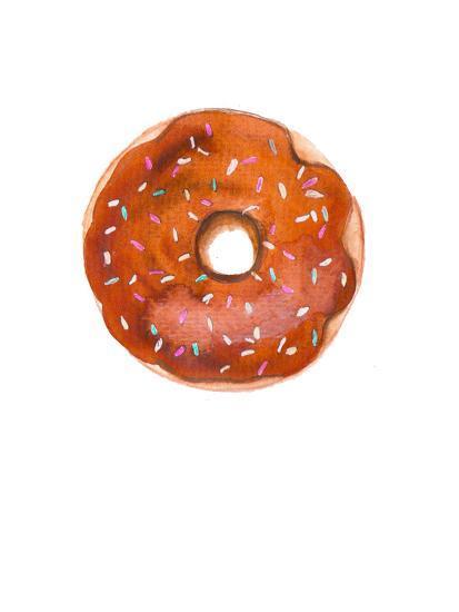 Choc Doughnut- Alison B Illustrations-Art Print