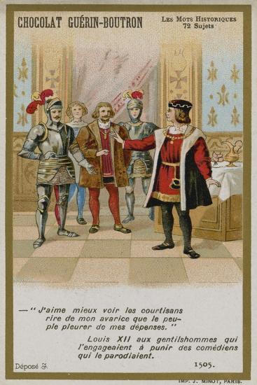Chocolat Guerin-Boutron Trade Card, Historic Words Series--Giclee Print