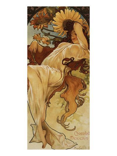 Chocolat Masson - Winter-Alphonse Mucha-Giclee Print