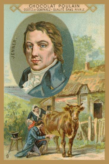 Chocolat Poulain Trade Card, Edward Jenner--Giclee Print