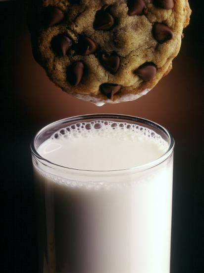 Chocolate Chip Cookie and Milk-John T^ Wong-Photographic Print