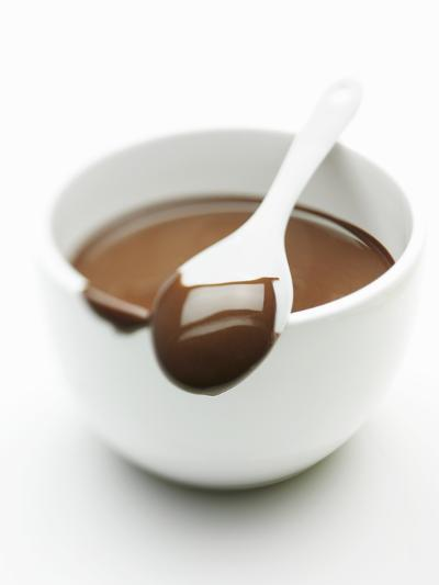 Chocolate Coated Spoon on a Bowl of Melted Chocolate-Silvia Baghi-Photographic Print