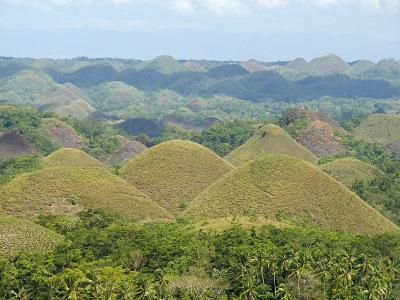 Chocolate Hills, Conical Hills in Tropical Limestone Karst, Carmen, Bohol, Philippines--Photographic Print
