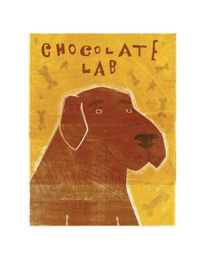 Chocolate Lab-John Golden-Art Print
