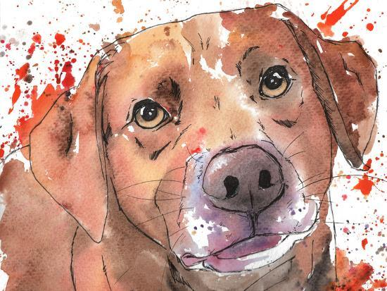 Chocolate Lab-Allison Gray-Art Print