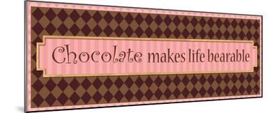 Chocolate makes life bearable-Alain Pelletier-Mounted Print