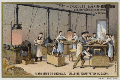 Chocolate Manufacturing, Cocoa Roasting Room--Giclee Print