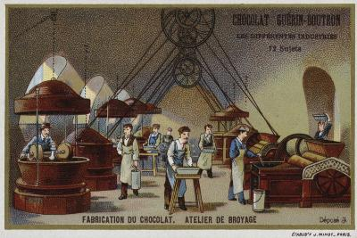 Chocolate Manufacturing, Grinding Workshop--Giclee Print