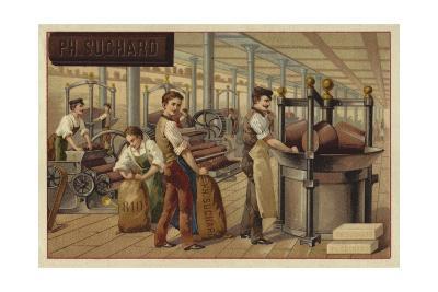 Chocolate Manufacturing--Giclee Print