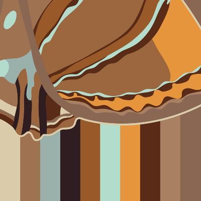 Chocolate Neapolitan Stripes-Belen Mena-Giclee Print