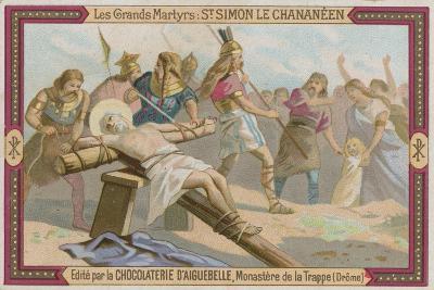 Chocolaterie D'Aiguebelle Trade Card, Simon the Canaanite--Giclee Print