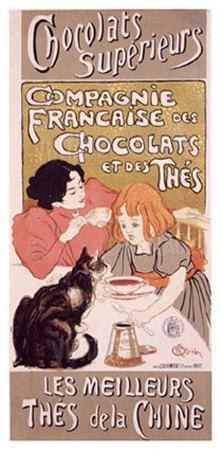 Chocolats et Thes-Th?ophile Alexandre Steinlen-Giclee Print