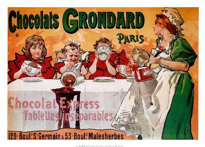 Chocolats Grondard--Art Print
