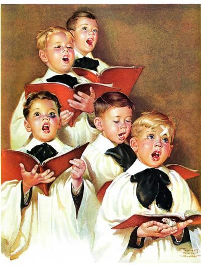 """Choir Boys Will Be Boys,""December 10, 1938-Frances Tipton Hunter-Giclee Print"