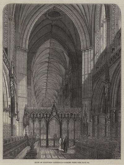 Choir of Lichfield Cathedral, Looking West--Giclee Print