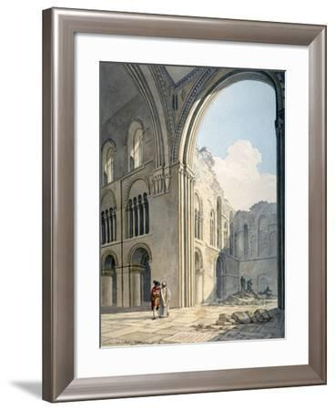 Choir of the Church of St Bartholomew-The-Great During Repairs, Smithfield, City of London, 1815-Frederick Nash-Framed Giclee Print