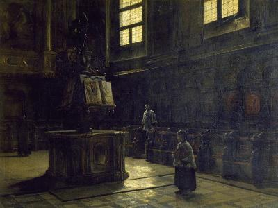 Choir of the St John's Church in Parma, 1873-Salvatore Marchesi-Giclee Print