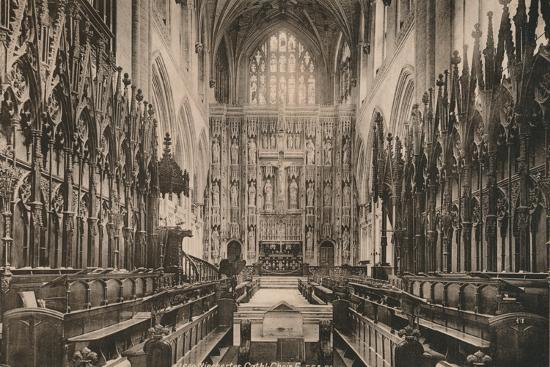 Choir of Winchester Cathedral, Hampshire, early 20th century(?)-Unknown-Photographic Print