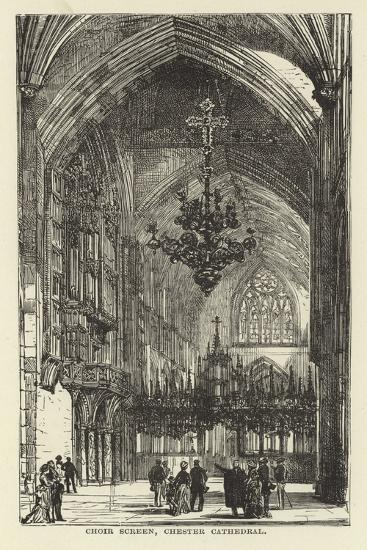 Choir Screen, Chester Cathedral--Giclee Print