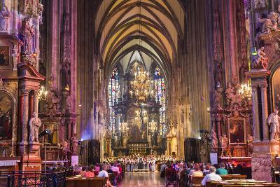 Choir Singing, St Stephens Cathedral, Vienna, Austria-Peter Adams-Photographic Print