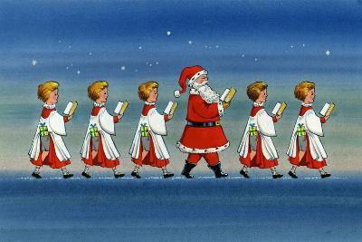 Choirboys and Santa-Stanley Cooke-Giclee Print