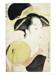 The Courtesan Yosooi of the Matsuba-Ya House by Chokosai Eisho