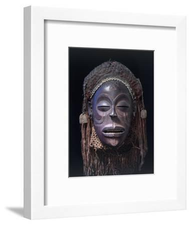 Chokwe dance mask of a type known as Mwana Pwo, Angola or DR Congo, 19th or 20th century-Werner Forman-Framed Photographic Print