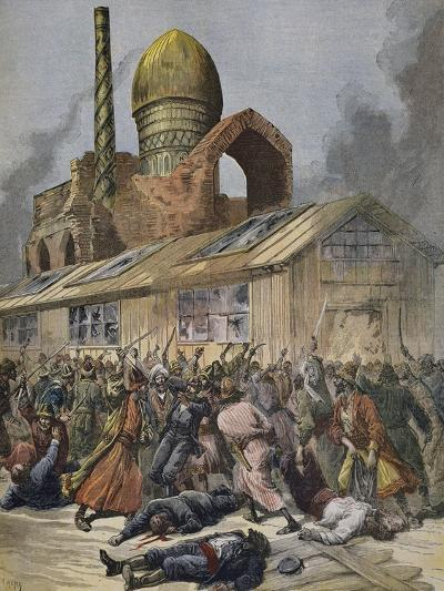 Cholera in Russia, Riots in Astrakhan Published in Le Petit Journal, August 6, 1892--Giclee Print