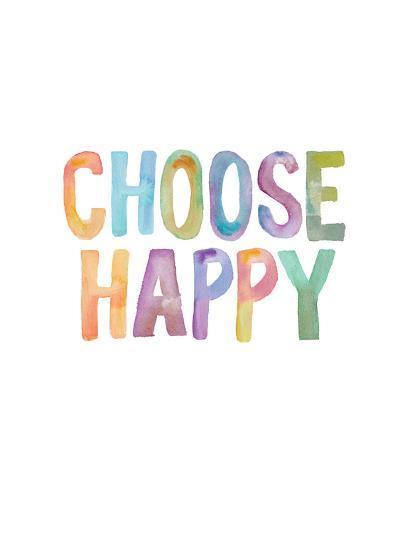 Choose Happy-Brett Wilson-Art Print