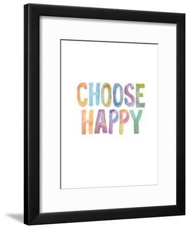 Choose Happy-Brett Wilson-Framed Art Print