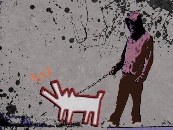 Choose the dog-Banksy-Giclee Print