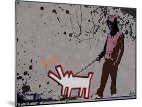 Choose the dog-Banksy-Mounted Giclee Print