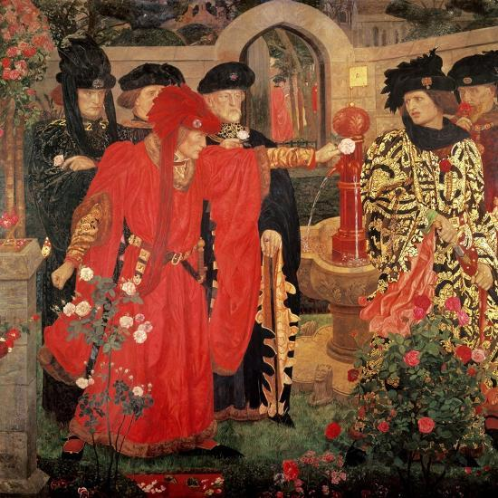 Choosing the Red and White Roses in the Temple Garden, 1910-Henry Payne-Giclee Print