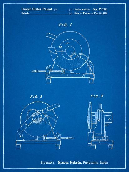Chop Saw Patent-Cole Borders-Art Print