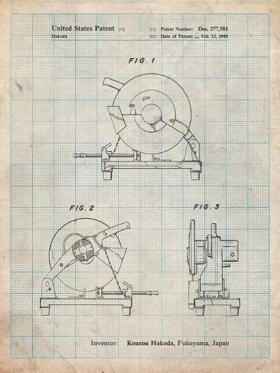 Chop Saw Patent-Cole Borders-Art Print