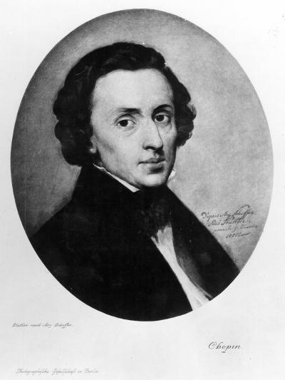 Chopin, 1858-Ary Scheffer-Giclee Print