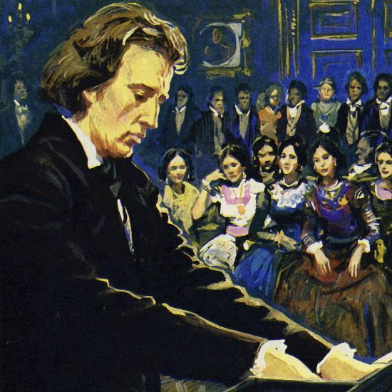 Chopin Played Mostly in the Salons of the Rich--Giclee Print