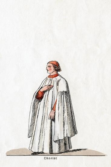 Chorister, Costume Design for Shakespeare's Play, Henry VIII, 19th Century--Giclee Print