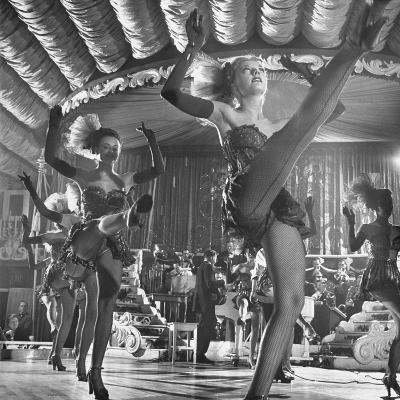Chorus Girls Dancing During Show at Latin Quarter-George Silk-Photographic Print