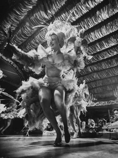 Chorus Girls Entertaining at the Latin Quarter Night Club-Yale Joel-Photographic Print
